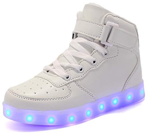 Unisexo LED Zapatillas Altas Ligero Transpirable 7 Colores Hombre Mujer USB Carga...