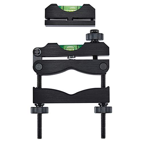 HIRAM Reticle Leveling System Firearm Scope Crosshair Alignment Level Tool Kit 2 pc Precision Bubble Levels for Gunsmithing and Professionally Aligning Rifle and Carbine Optics, Black
