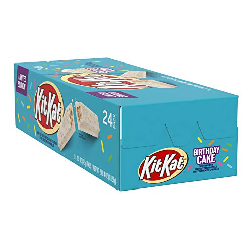 Kit Kat Crisp Wafers in Birthday Cake Flavored White Creme with Sprinkles 15 Oz 24Count