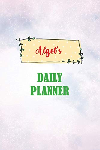 Daily Planner for Algot | 6x9 inches | 100 pages: Daily Planner...