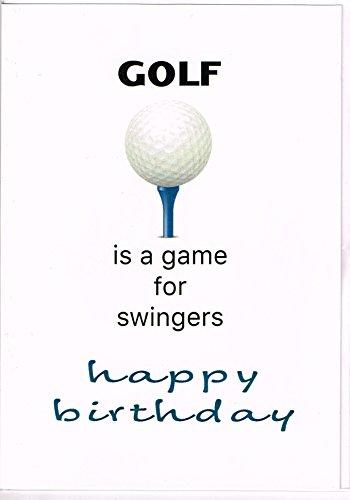 Element Gifts Golf is een spel voor Swingers verjaardagskaart, andere, wit, een maat