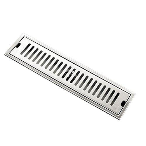 Fenteer Metall Bodenablauf Edelstahl Ablaufrinne - 40 cm
