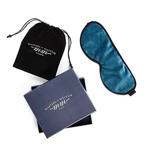 Masters Of Mayfair Luxury Sleep Mask Infused with 100% Lavender & Luxurious Soft Silk Backing (Mediteranneo Aqua)