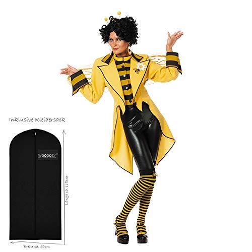 WOOOOZY Damen-Kostüm Frack Bienenkönigin, Gr. 46 - inklusive praktischem Kleidersack