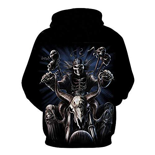 yyqx container Pulls Hoodies d'impression 3D Crazy Motorcycle Outdoor Couples Sweatshirts avec Kangaroo Pocket-S