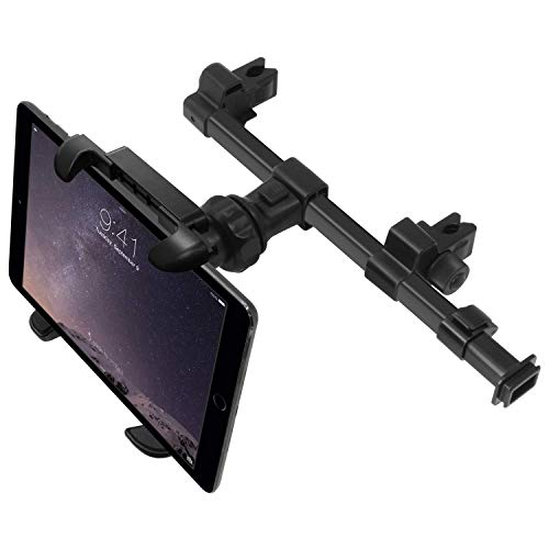 Macally HRMOUNTPROB KFZ-Halterung für Apple iPad Pro/Air/Mini, Tablets, Nintendo Switch, iPhone, Smartphones mit einer Breite von 11,4 cm bis 25,4 cm mit zwei verstellbaren Positionen und 360° Drehung