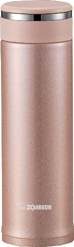 Zojirushi Stainless Steel Travel Mug With Tea Leaf Filter, 16 Ounce, Pink Champagne