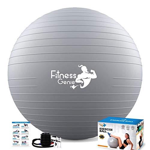 Ballon d'exercice de fitness avec pompe à pied à air de 55 à 75 cm – Anti-éclatement de 997,9...