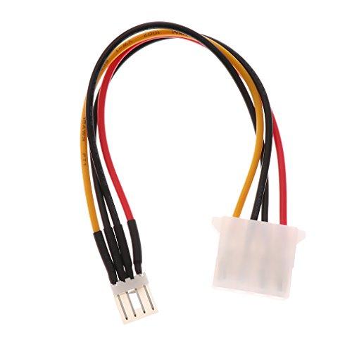 IPOTCH Cable de Fuente de Alimentación Cable de Adaptador de Unidad de Disquete 4 Pin Male Floppy to Large 4 Pin
