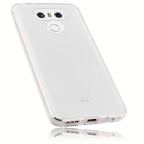mumbi Hülle kompatibel mit LG G6 Handy Hülle Handyhülle, transparent weiss