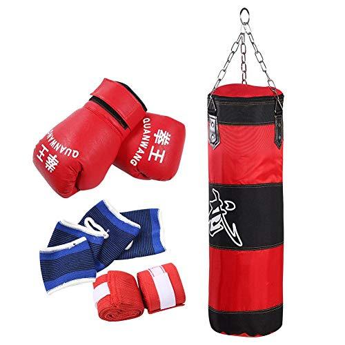 Biitfuu Boxsack Schwerer Boxsack Kickboxsäcke Kick Boxsack mit Handschuhen für Erwachsene & Kinder(#1)