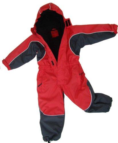 Maylynn Kuscheliger Schneeanzug Skianzug rot atmungsaktiv und wasserdicht 5000mm, Größe:98