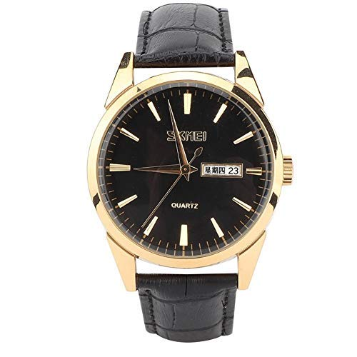 Reloj de Cuarzo,Moda Unisex Mujer Hombre Reloj de Cuarzo Señoras Reloj de Cuarzo de Moda a Prueba de Agua de Cerámica Correa de Acero Inoxidable Reloj Casual de Negocios Negro Señoras Reloj (#03)