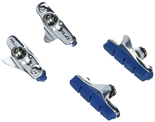 XLC Chaussures de Frein Cartridge Lot de 4 R02 pour Carbon Road BR 55 mm, Argent/Bleu, 2500386050