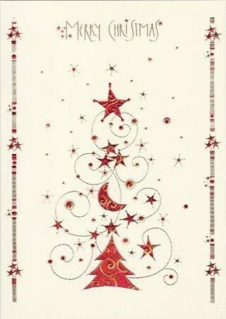 DIN A5 große Weihnachtskarte Merry Christmas