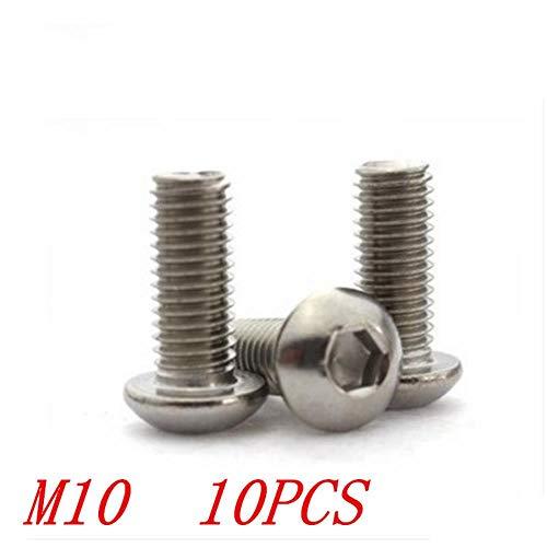 5 stks iso7380 roestvrij staal 304 M10 * 25/30/35/40/45/50/55/60/65/70/75/80 inbus zeskant inbusbout machine schroef, M10X80