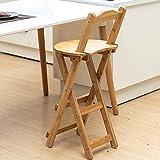 Taburete plegable taburete alto respaldo taburete alto banco pequeño portátil de madera maciza al aire libre silla plegable para el hogar respaldo plegable silla de comedor silla de café perezosa