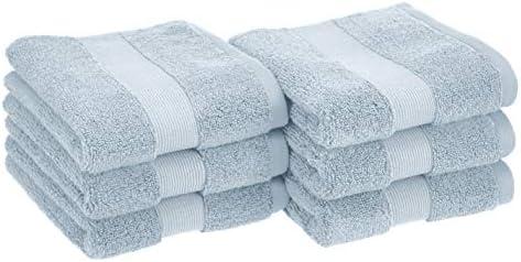 Amazon Basics Dual Performance Hand Towel 6 Pack Light Blue product image