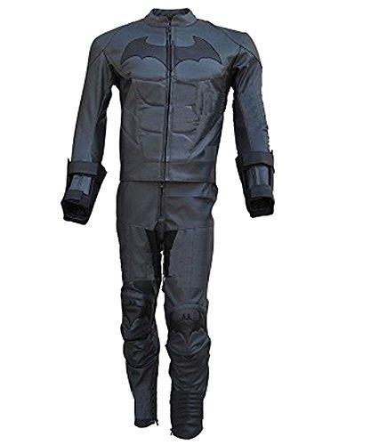 Classyak Traje de Caballero Oscuro de Piel para Moto para Hombre – Chaqueta y...