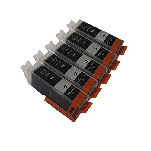 CMDZSW PGI-450 PGI 450 CLI 451 Cartucho de Tinta Compatible para PIXMA MG5440 MG5540 MG5640 MG6440 IP7240 MX924 IX6540 IX6840 Impresora (Color : 5PGBK)