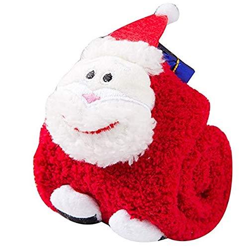 heDIANz Chaussettes Antidérapantes Parent-enfant Enfants Chaussette En Molleton Santa Coral Pour Arbre De Noël 3D Adulte Enfants Père Noël*