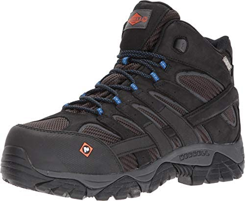 Merrell Men s Moab 2 Vent Mid Waterproof CT Black Work Boots 8 M US product image