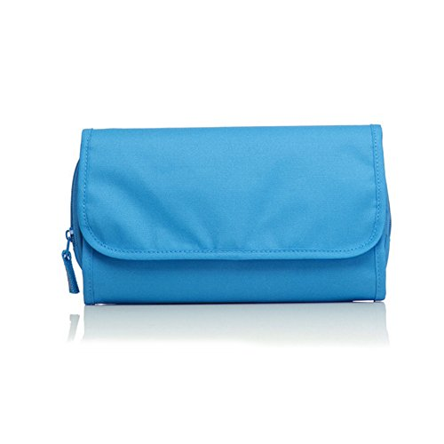 Travelmall Travel Organizer Toiletry Bag Cosmetic Bag Pouch Handbag for Women Makeup Men Shaving Kit with Hook Hanging Blue Photo #2