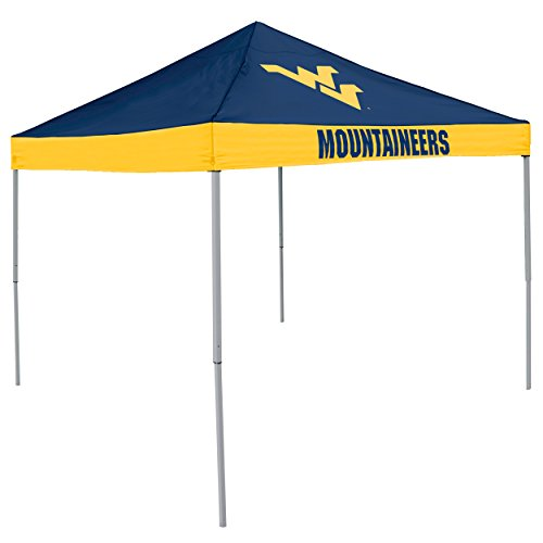 Logo Brands NCAA West Virginia Mountaineers Unisex Adult Economy Canopy Tailgate Tent, Multicolor, One Size