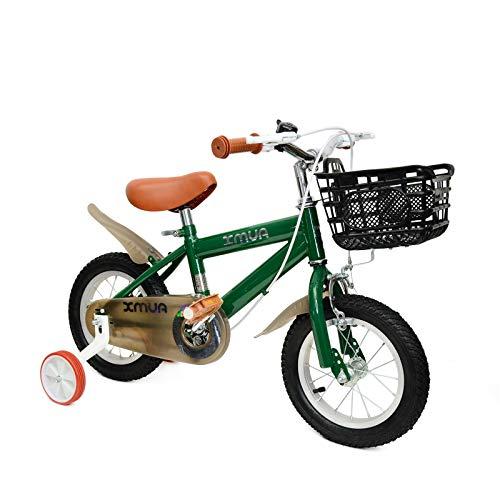 【在庫一掃セール】 子ども用自転車 子供用自転車 幼児自転車 高さ調節可能 16インチ 4?6歳向け 補助輪付き泥除け付き 日本語説明書付き 推奨身長110-125cm 組み立て式 男の子 女の子 誕生日プレゼント 子供のギフト グリーン