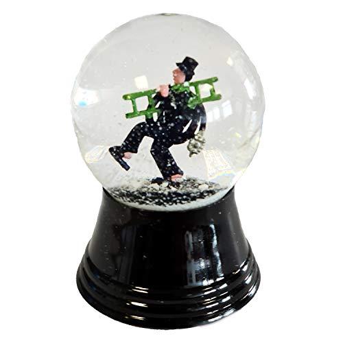 VIENNA SNOWGLOBE Palla di Vetro con Neve Vera Palla di Vetro - Quasi Come Neve Vera Motivo: spazzacamino, 4,5 cm