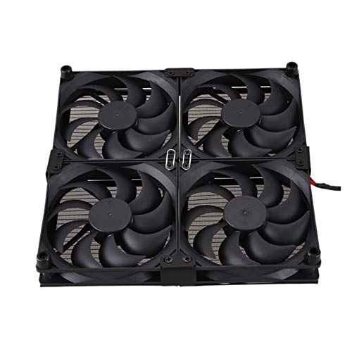 Radiador del ventilador Router Radiador TV Box ventilador de refrigeración del ventilador USB 4 Fans