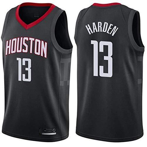 QQA James Harden Camiseta de Baloncesto NBA Houston Rockets 13# Tela Transpirable Fresca Bordado Clásico Sudadera de Malla,M