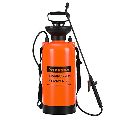 VIVOSUN 1.85 Gallon Lawn and Garden Pump Pressure Sprayer with...
