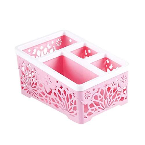 SCDZS Celdas Organizador de plástico Caja de Almacenamiento Corbata Sujetador Calcetines Cajón Divisor cosmético Se Puede apilar Contenedor