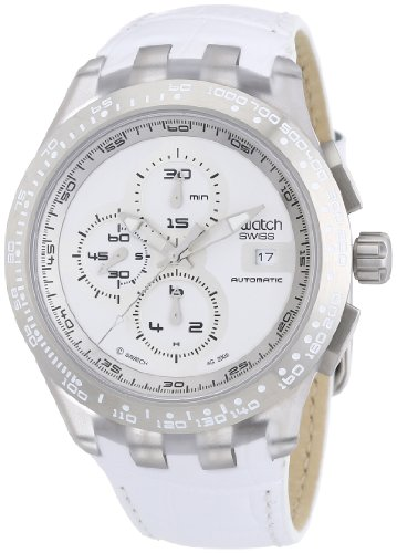 SWATCH CHRONO AUTOMATIC COLLECTION Right Track White SVGK406