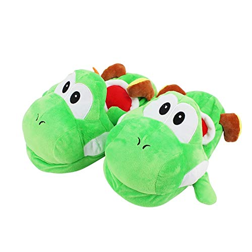 XINKA Super Mario Plüsch Pantoffel 27cm Super Mario Bros Yoshi Erwachsene Plüsch Pantoffeln Home Winter Hausschuhe Schuhe Nette Plüsch Weiche Gefüllte Pantoffel Spielzeug Für Familie