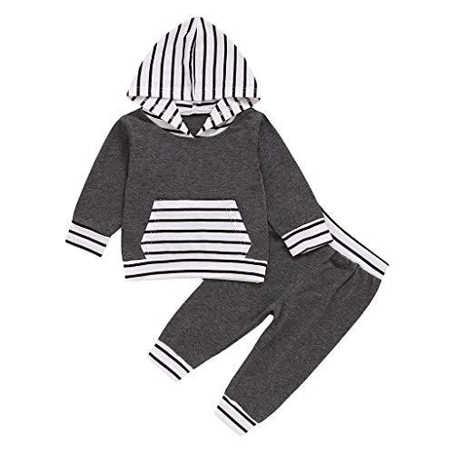 JKstore - Set di felpa con cappuccio, a maniche lunghe, 3-24 m grigio 18 mesi