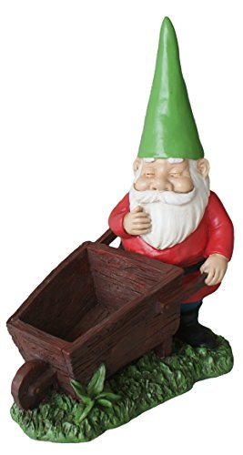 TIAAN 28cm altura jardín gnomo estatuas maceta plantador de la escultura Gnome