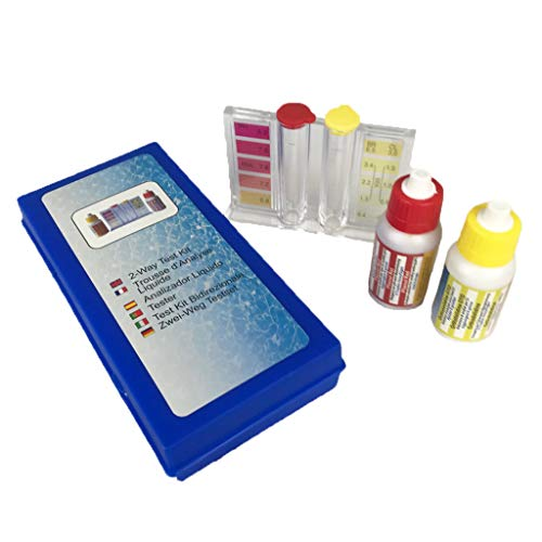 well2wellness® Pool Test Kit Chlor pH mit Pooltester und Flüssigreagenzien (024070)