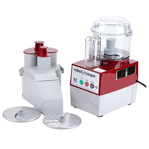 Commercial Food Processor w/ 3 Quart Clear Bowl & 2 Disc