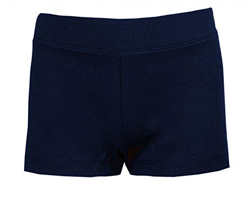 Pantalones cortos, para niñas, para montar en bici, bailar, correr, para escuela de danza, de tela elástica, color azul marino Azul azul marino 8-9 Años