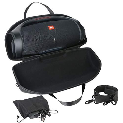 Khanka Hart JBL Boombox 2 Tragetasche mit Gurt & Zubehörtasche,case schutzhülle für JBL Boombox 2 Wasserdichter Bluetooth Lautsprecher Speaker hülle Etui.(Tasche+Zubehörtasche+Gurt)