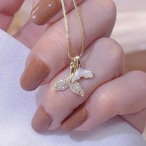 CBVG Romántico Charm CZ Bowknot Lady Collar 14k Oro Real Brillante Zircon Clavícula Cuerda Elegante Regalo Kolye