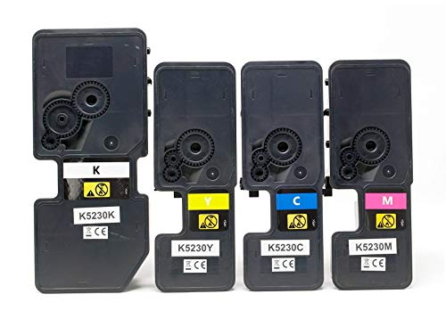 4X Toner kompatibel als Ersatz für Kyocera TK-5230 für Kyocera ECOSYS M5521cdn M5521cdw P5021 P5021cdn P5021cdw schwarz, Cyan, Magenta, gelb