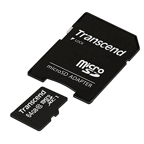 Transcend 64GB microSDXC/SDHC Class 10 (Premium) with Adapter