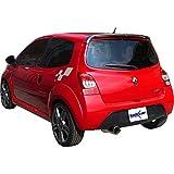 Inoxcar RETW.03.102 100 % Inox Sportauspuff für Renault Twingo II RS Sport 1.6 16 V (133 PS) 2008, 102 mm