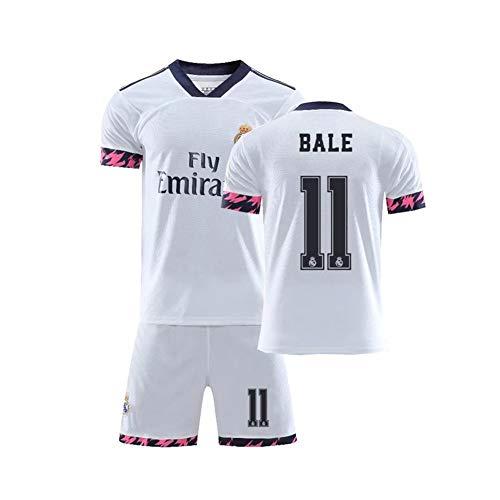 PAOFU-Conjunto de Camiseta de Fútbol de Partidario de # 10 Gareth Bale 2020 Real Madrid de Los Hombres,Entrenamiento Transpirable Ropa Deportiva Aficionados Al Fútbol Conjunto de Jersey,Blanco,XL