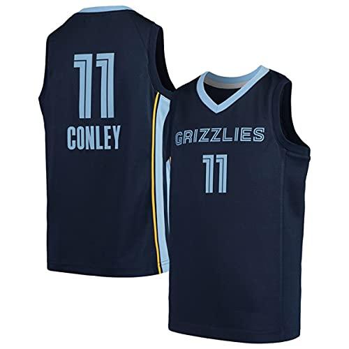 HZHEN NBA Basketball Jersey, Mike Conley 11# Memphis Grizzlies Jerseys Swingman Tejido Transpirable Cool Sleeves Tank Clothing,1,M (170~175CM / 65~75KG)