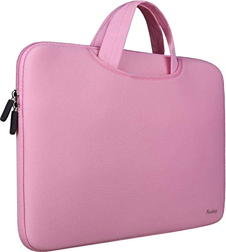 Laptop Sleeve Case,Slim Travel Briefcase Handle Bag/Notebook Computer Protective Sleeve/Durable Business Messenger Briefcases for Men and Women Fits 13 13.3 Inch Laptop, (Pink,13.3 inch)