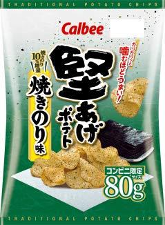 カルビー 堅あげポテト 焼きのり味 80gX1箱(12袋)